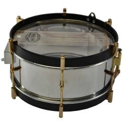tambor infantil aro negro y caja cromado
