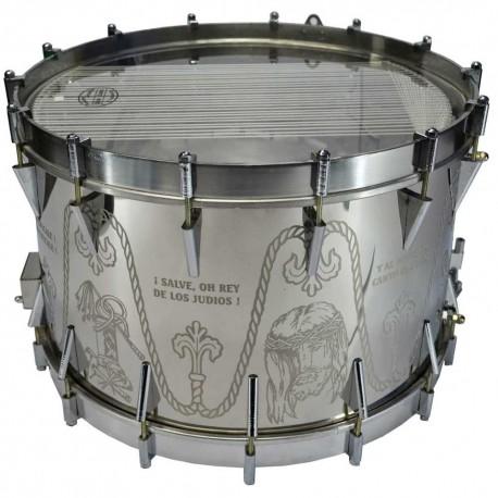 tambor grabado aro cromado y color caja cromado